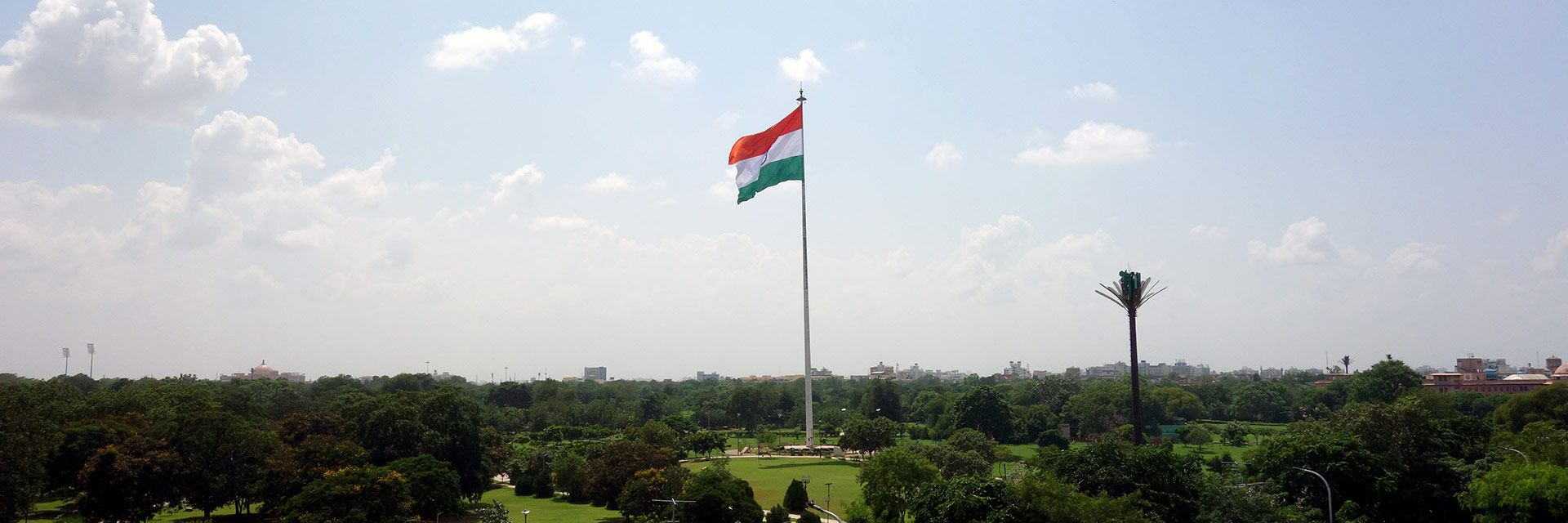view of the indian flag