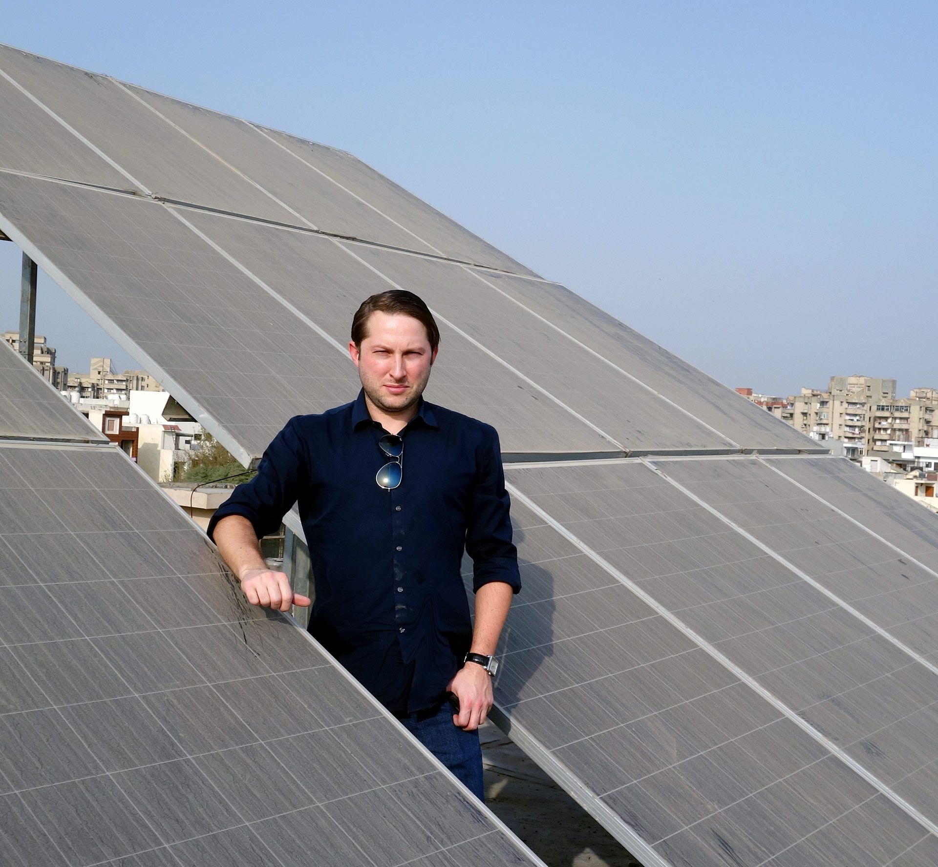 enough solar panels to operate as a zero emission office
